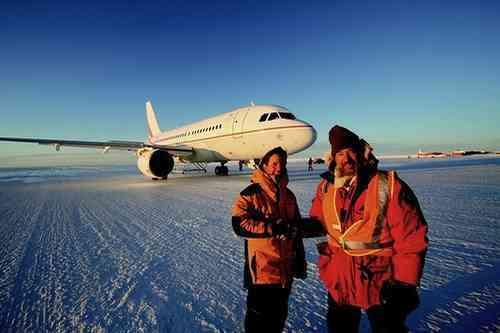 Airbus Lands On Glacial Runway In Antarctica