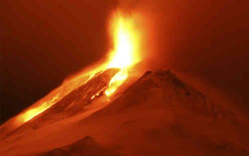 Volcano Erupts In Chile, South America