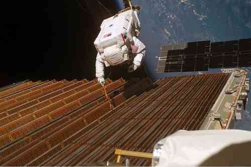 Astronauts Undertake Risky Spacewalk To Repair Solar Panel