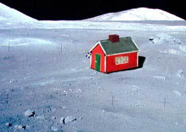 The First House On The Moon?