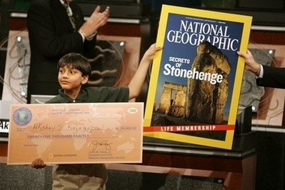 11-Year Old Sixth-Grader Wins National Geographic Bee