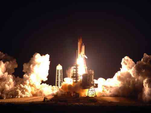 Space Shuttle Discovery Launched