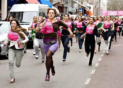 """""""Stiletto Run"""" in Amsterdam"""