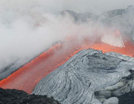 Hawaii's Kilauea volcano provides a feast for the eyes