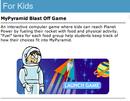 MyPyramid Blast Off Game