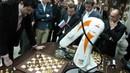 Chess Champion Vs. Terminator Robot Round One!