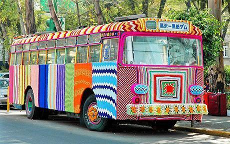 Graffiti Knitting - Art Or Eyesore? You Decide