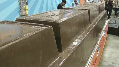 World's Biggest Chocolate Bar Conveys An Even Bigger Message